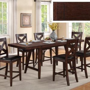 Sierra counter heigh dining set by Crown Mark