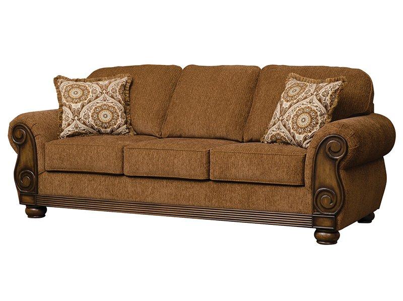 Serta 8000 Brazil Wood Trim Sofa