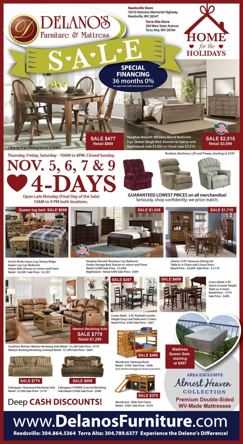 November Furniture Sale