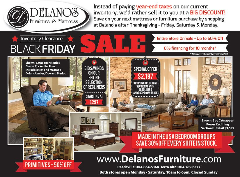 Furniture inventory clearance sale in morgantown and preston county, west virginia