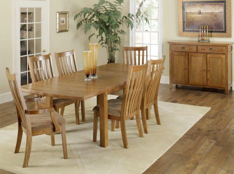 Solid Oak Dining Table - Portland