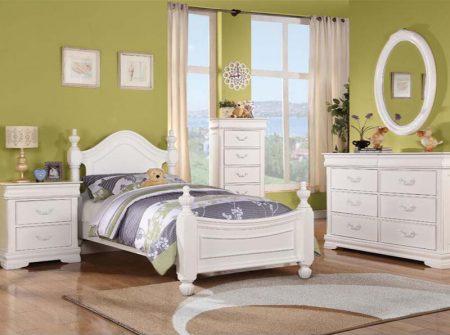 Affordable whiteyouth bedroom set