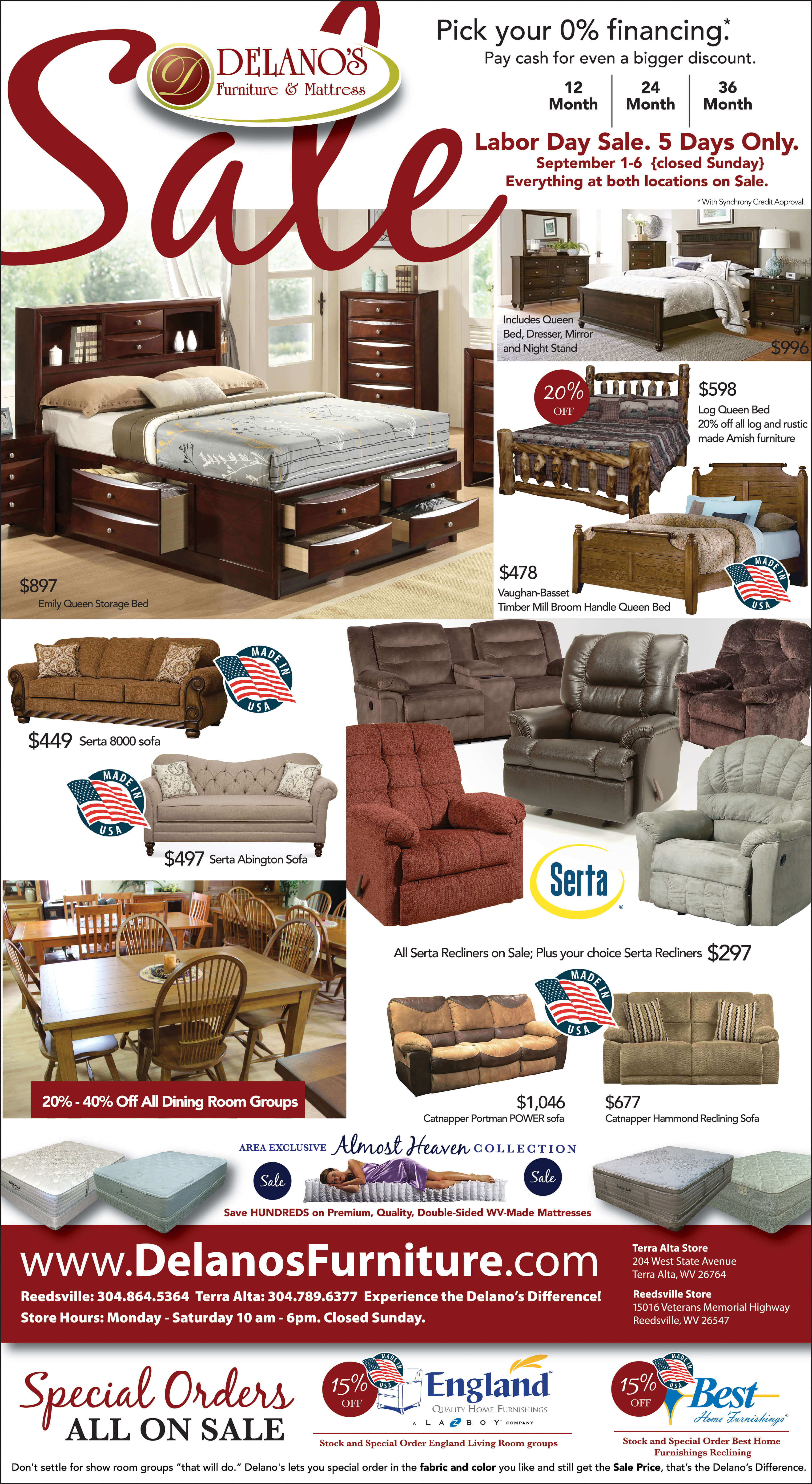 Labor Day Furniture Sale Ad