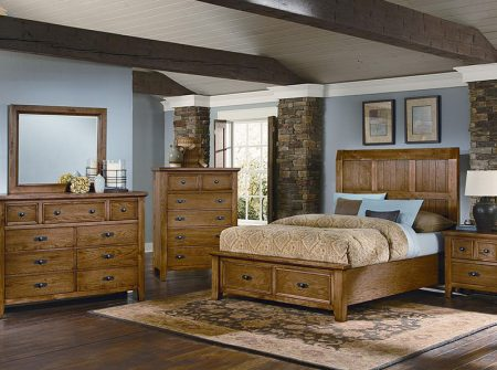 Vaughan Basset Timber Mill Oak Bedroom Furniture Set