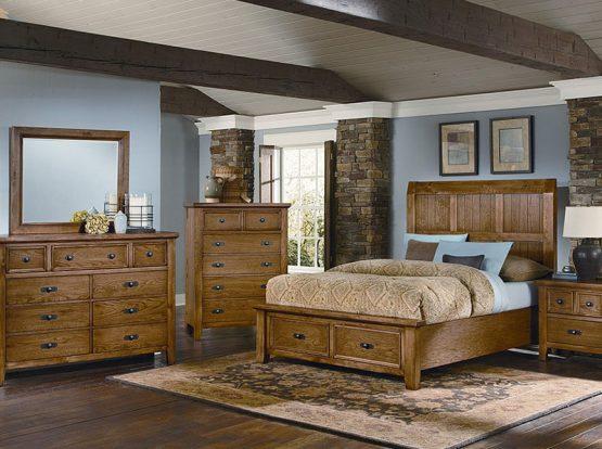 Vaughan Basset Timber Mill Oak Bedroom Furniture Set
